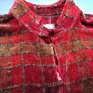 Vintage, LOOMINUS HANDWOVENS, rayon chenille vest